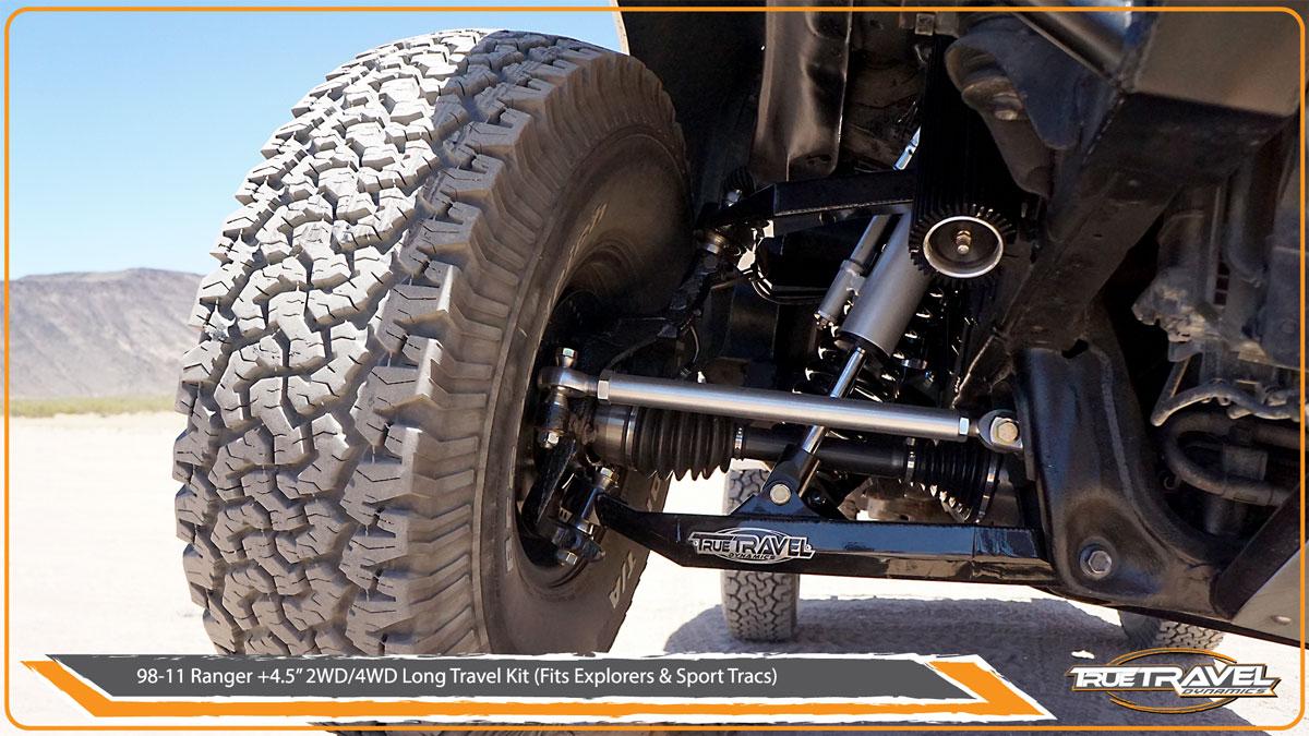 98-11 Ford Ranger 4WD +4 5 Long Travel Kit